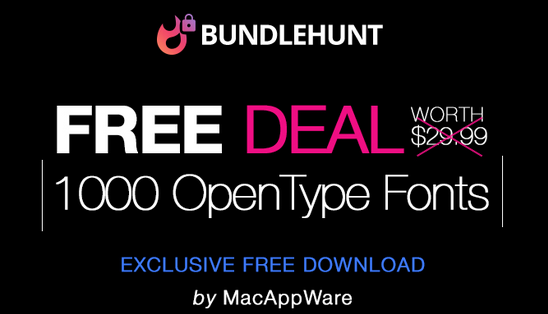 Giveaway 1000 Opentype Fonts For Mac Amp Windows Free Net