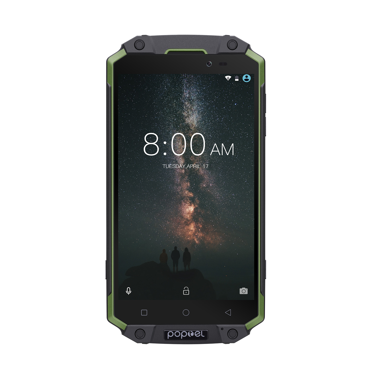 POPTEL P9000 MAX Android Phone Green- Android 7.0-4GB RAM, 5.5-Inch FHD, IP68, Dual-IMEI