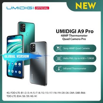 "UMIDIGI A9 Pro 32/48MP Quad Camera 24MP Selfie Camera 6GB 128GB Helio P60 Octa Core 6.3"" FHD+ Global Version Cellphone Pre-sale"